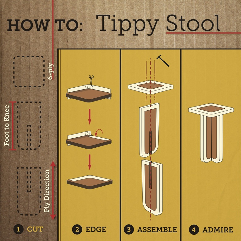 Tippy Stool Simple